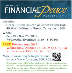 financial peace university taneytown maryland