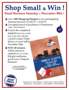 Small Business Saturday Taneytown MD