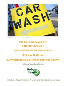 Sober Truth CAR WASH Fundraiser in Taneytown, MD