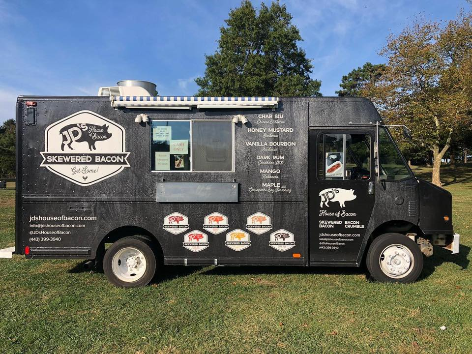 JD's House of Bacon Food Truck at Brewery Fire