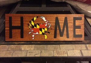 Crab Home Sign Firehouse Pottery & Arts